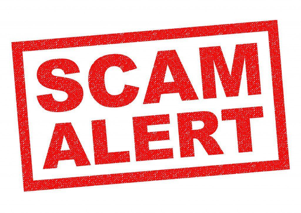 Scam list. Scam alert